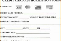 Credit Card Authorization Form Template  Template Business regarding Credit Card Authorization Form Template Word