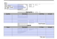 Credit Card Invoice Template  Onlineinvoice throughout Credit Card Bill Template