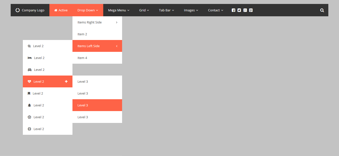 Css Responsive Mega Drop Down Menuthebestdesigns  Codecanyon In Drop Down Menu Template Html