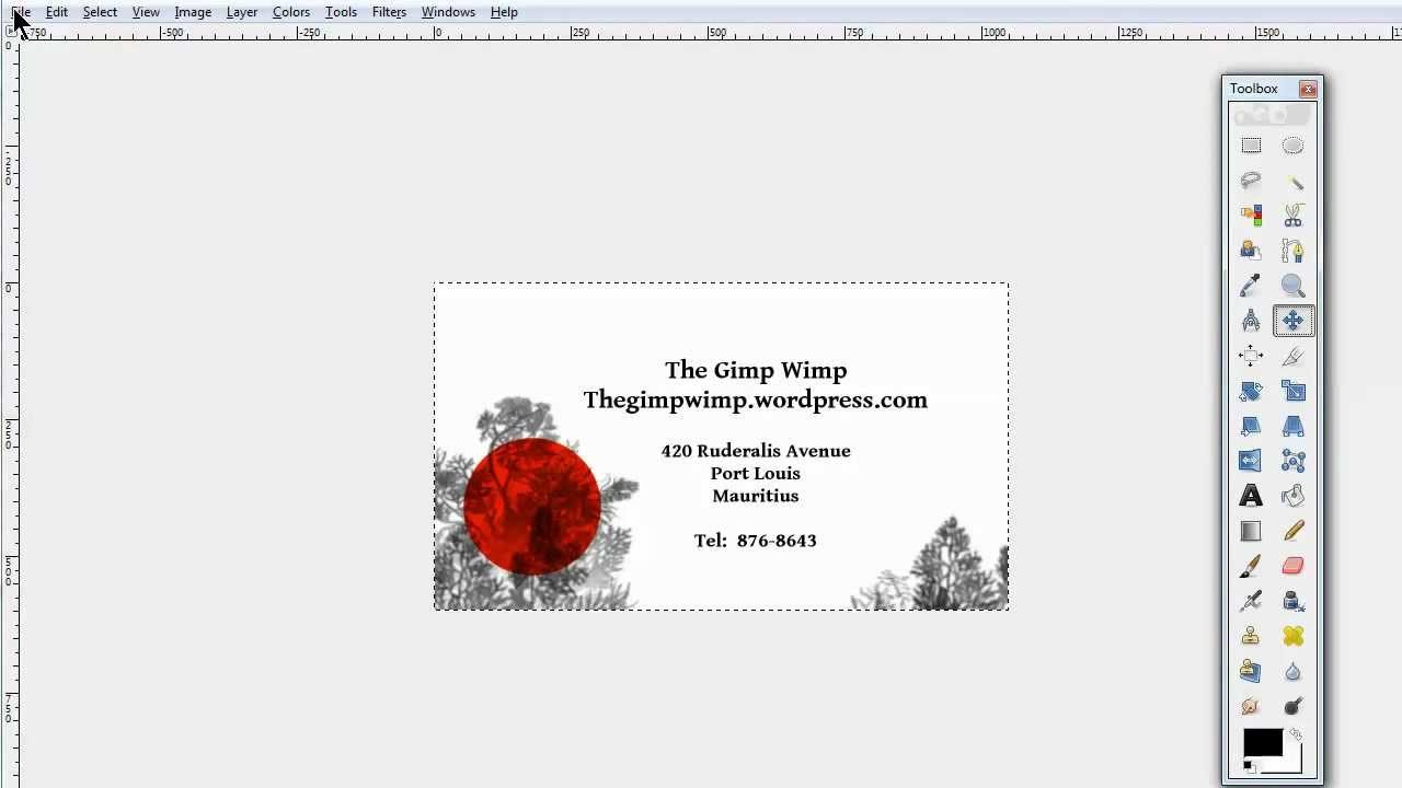 Custom Business Card In Gimp The Gimpwimp  Youtube Intended For Gimp Business Card Template
