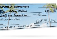 Custom Giant Checks For Donations Events  More  Signs pertaining to Customizable Blank Check Template