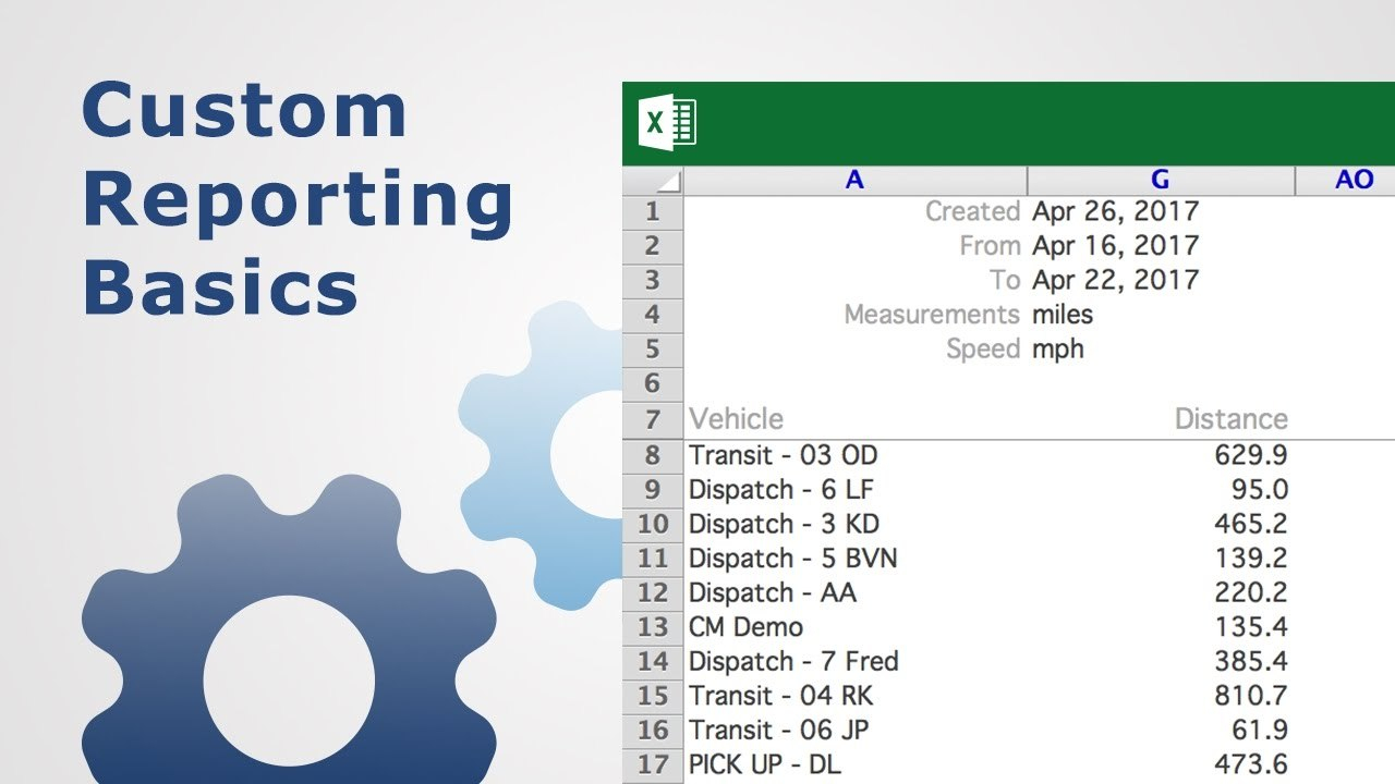 Custom Reporting Basics  Fleet Management  Youtube For Fleet Management Report Template