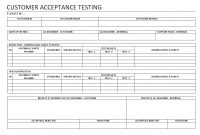 Customer Acceptance Testing in User Acceptance Testing Feedback Report Template