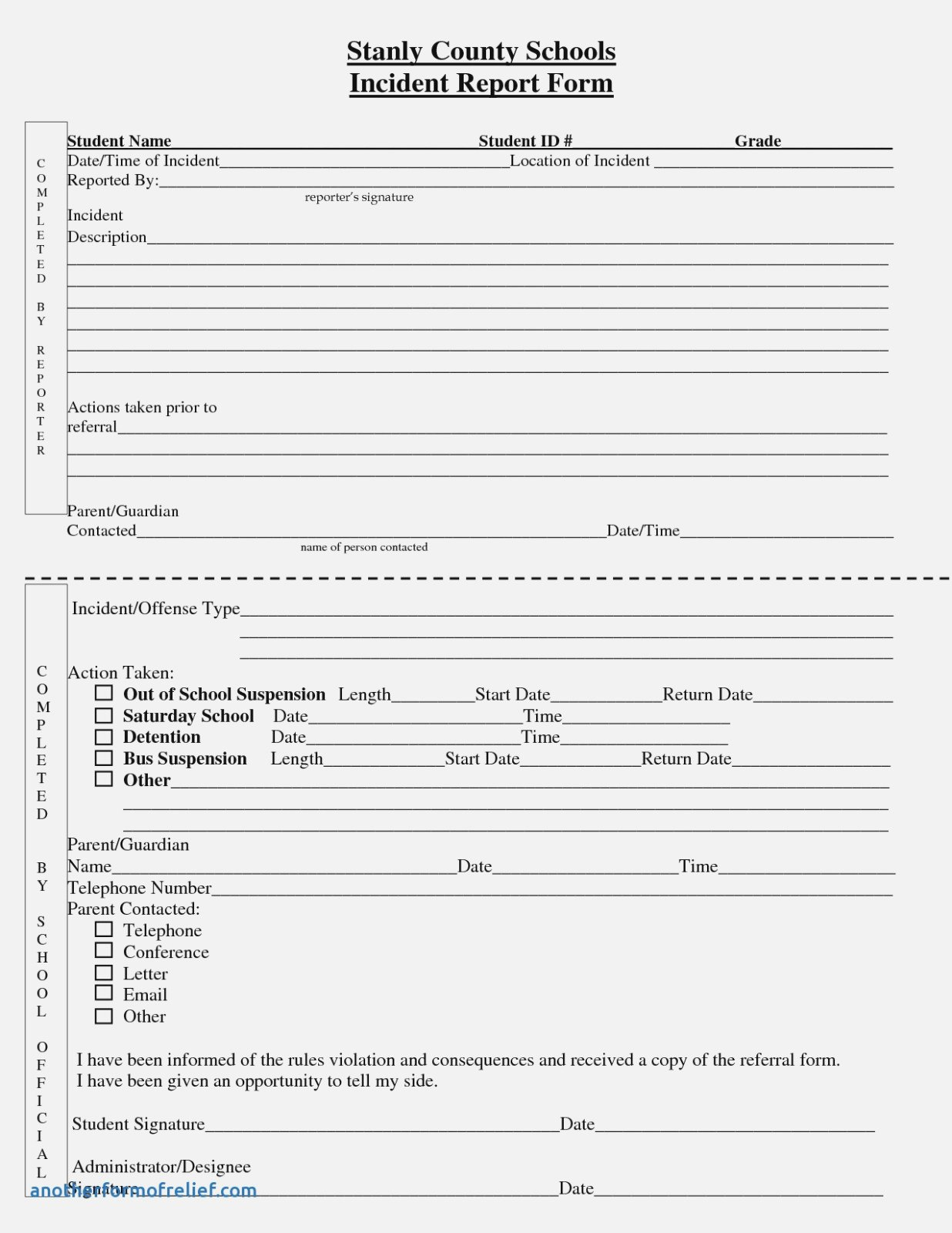 Customer Incident Report Form Template New Best S Of Standard Regarding Customer Incident Report Form Template