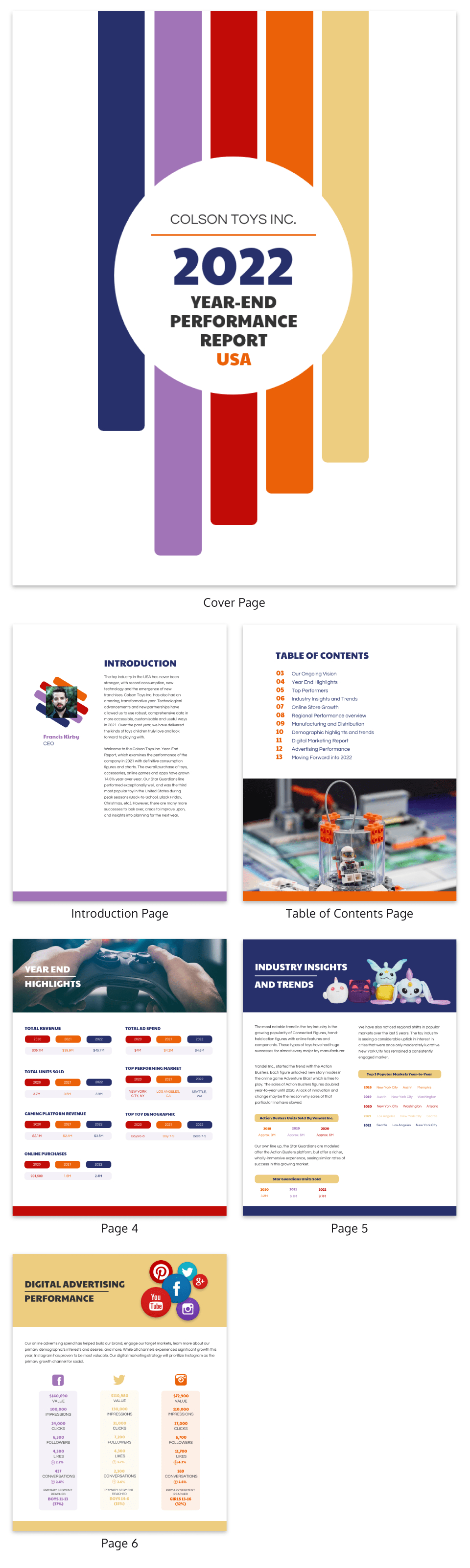 Customizable Annual Report Design Templates Examples  Tips In Annual Report Template Word Free Download