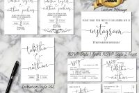 Customizable Wedding Invitation Template Printables Collection for Wedding Rsvp Menu Choice Template