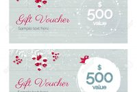 Cute Hand Drawn Christmas Gift Voucher Coupon Discount Gift in Merry Christmas Gift Certificate Templates