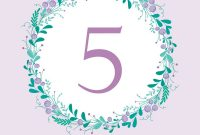 Cute Wedding Table Number Card Template With Hand Vector Image within Table Number Cards Template