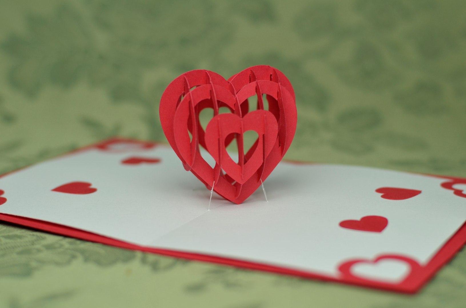 D Heart Pop Up Card Template  Creative Pop Up Cards Inside 3D Heart Pop Up Card Template Pdf