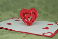 D Heart Pop Up Card Template  Creative Pop Up Cards pertaining to Pop Out Heart Card Template