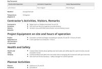 Daily Activity Report Template Free And Better Than Excel And Pdf within Daily Activity Report Template
