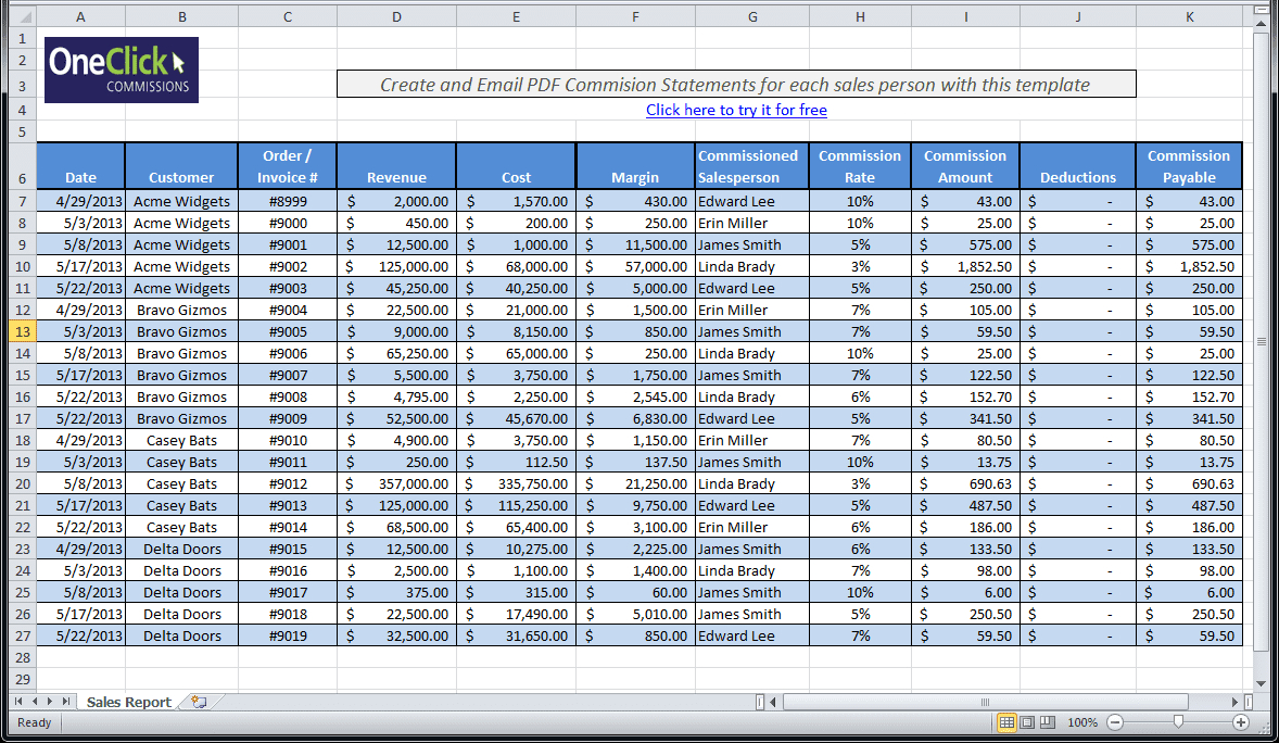 Daily Sales Call Report Template Free Download And Daily Sales Pertaining To Excel Sales Report Template Free Download