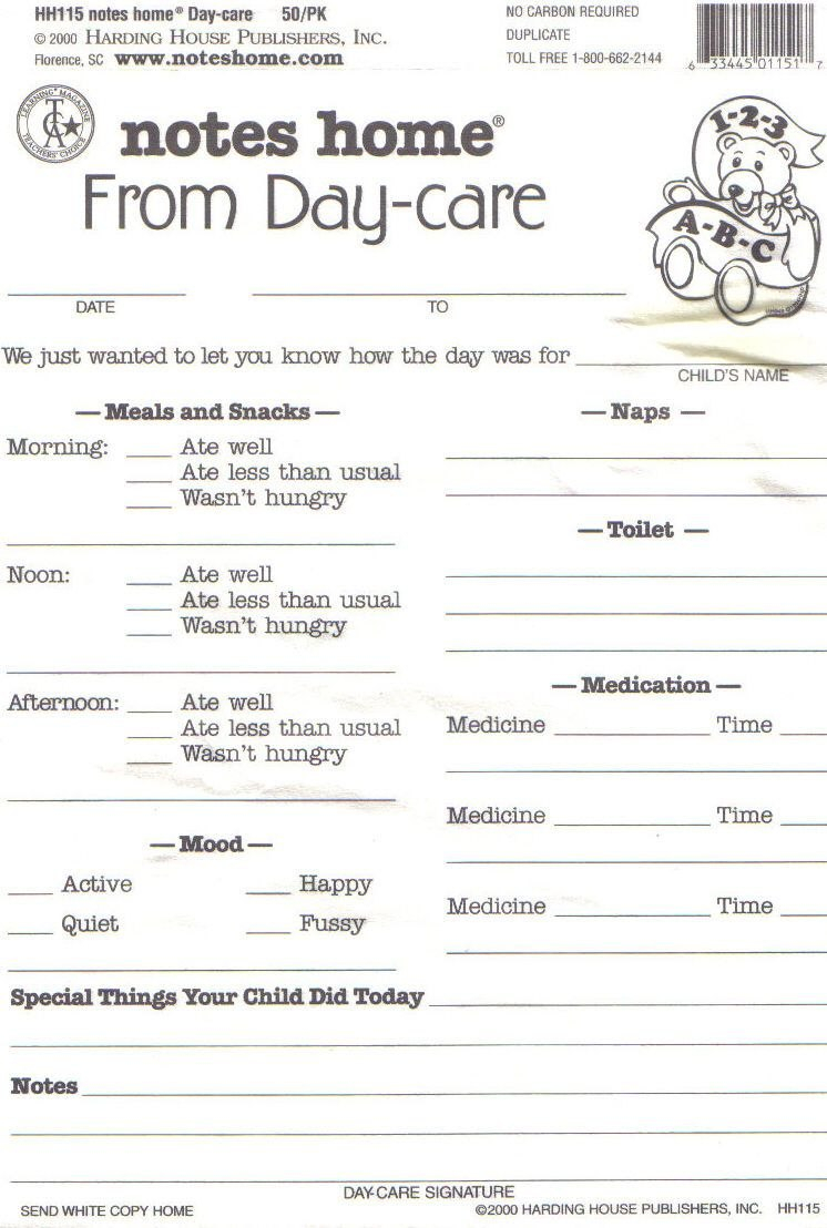 Day Care Infant Daily Report Sheets Printables  Daycare  Daycare For Daycare Infant Daily Report Template