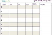 Day Menu Planner Template Awesome Meal Planning Calendar Template intended for 7 Day Menu Planner Template