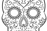 Day Of The Dead Sugar Skull Coloring Page  Free Printable Coloring intended for Blank Sugar Skull Template