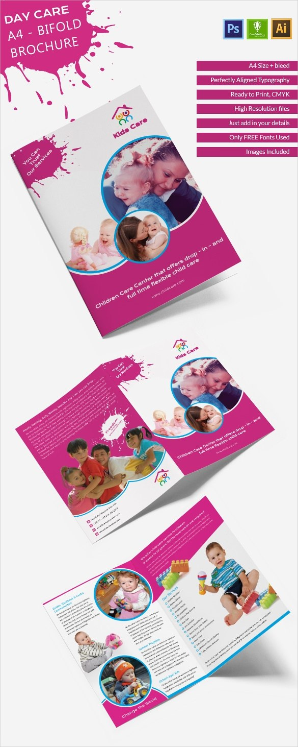 Daycare Brochure Templates  Free Psd Eps Illustrator Ai Pdf throughout Daycare Brochure Template