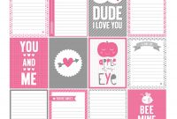 Days Of Free Valentine's Printables Day   Misstiina with regard to 52 Reasons Why I Love You Cards Templates Free