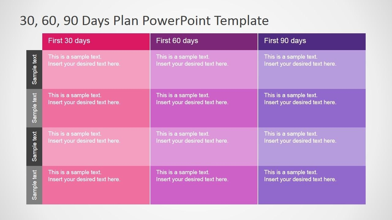 Days Plan Powerpoint Template  Career   Day Plan For 30 60 90 Business Plan Template Ppt