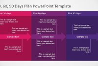 Days Plan Powerpoint Template  Work Stuff   Day Plan for 30 60 90 Business Plan Template Ppt