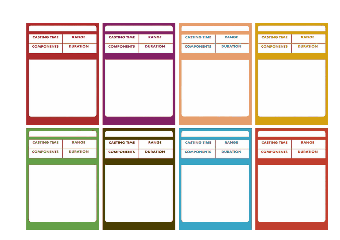 Dd E – Spellbook Cards  Roll For Initiative  Rpgs  Trading Card Intended For Blank Magic Card Template