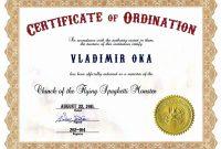 Deacon Ordination Certificate Template Best Of Free Printable regarding Ordination Certificate Templates