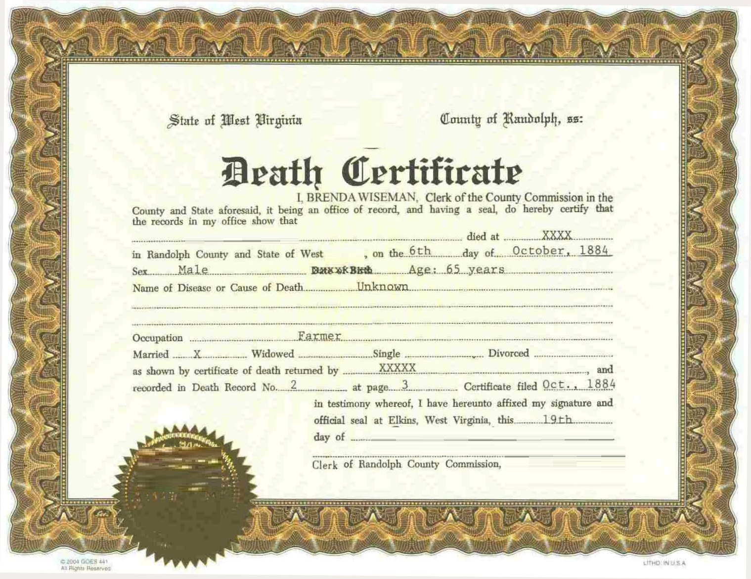 Death Certificate Online  Bigwebdirectory With Fake Death Certificate Template