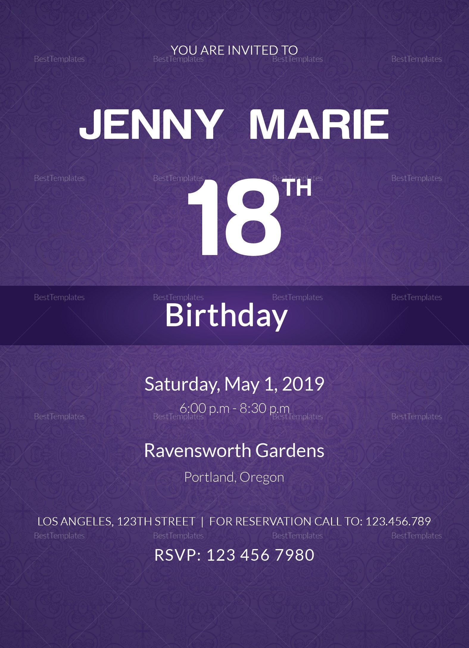 Debut Event Invitation Card Design Template In Word Psd Publisher In Event Invitation Card Template
