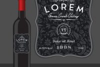 Decorative Wine Bottle Label Template Royalty Free Vector with regard to Template For Bottle Labels