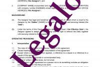 Deed Of Assignment Of Debt Template Agreement For Assigning A Debt regarding Debt Assignment Agreement Template
