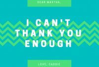Design A Custom Thank You Card  Canva in Index Card Template Open Office