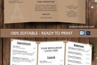 Design  Templatestri Fold Take Out Menu Menu Templates Wedding regarding Take Out Menu Template