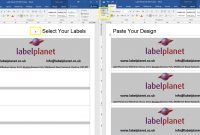 Designing A Label Template – Copy  Paste   Label Planet with How To Set Up Label Template In Word