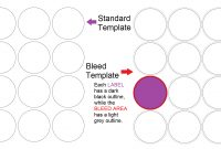 Designing A Label Template – When  How To Use A Bleed Template in 1.5 Circle Label Template