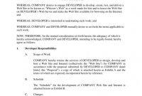 Developer Contract Template Beautiful Website Development For with Website Development Agreement Template