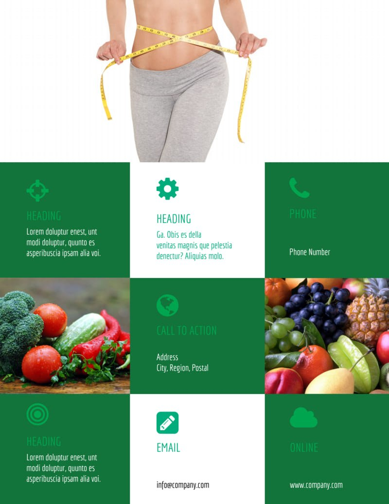 Dietitian Nutritionist Flyer Template  Mycreativeshop Within Nutrition Brochure Template