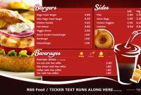 Digital Menu Boards  Create Publish Display With Signagelive regarding Digital Menu Templates Free