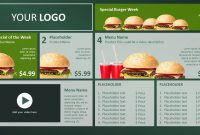 Digital Menu Design Templates within Digital Menu Templates Free