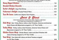 Diner Menus From The 's And 's  Fort Huachuca  Restaurants in 50S Diner Menu Template