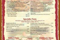 Diner Restaurant Menu Templates  Wosing Template Design regarding Diner Menu Template