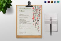 Dinner Menu Design Template In Psd Word Publisher Illustrator with Menu Templates For Publisher