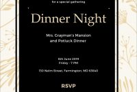 Dinner Party Invitation Template Word  Invitation Templates Free in Free Dinner Invitation Templates For Word