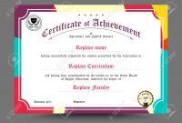 Diploma Certificate Template Design Vector Illustration Royalty for Design A Certificate Template