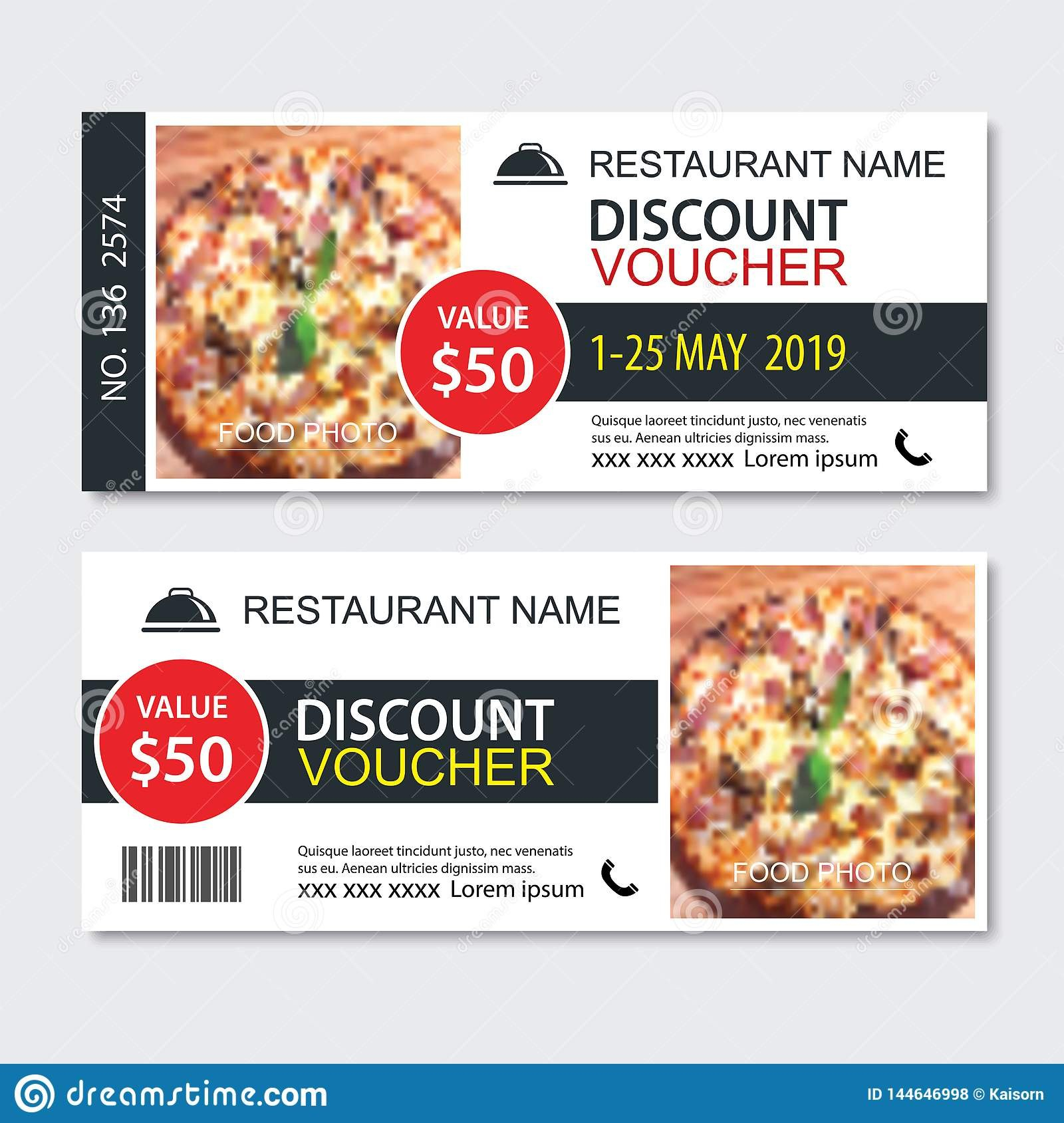 Discount Gift Voucher Fast Food Template Design Pizza Set Use For Throughout Pizza Gift Certificate Template