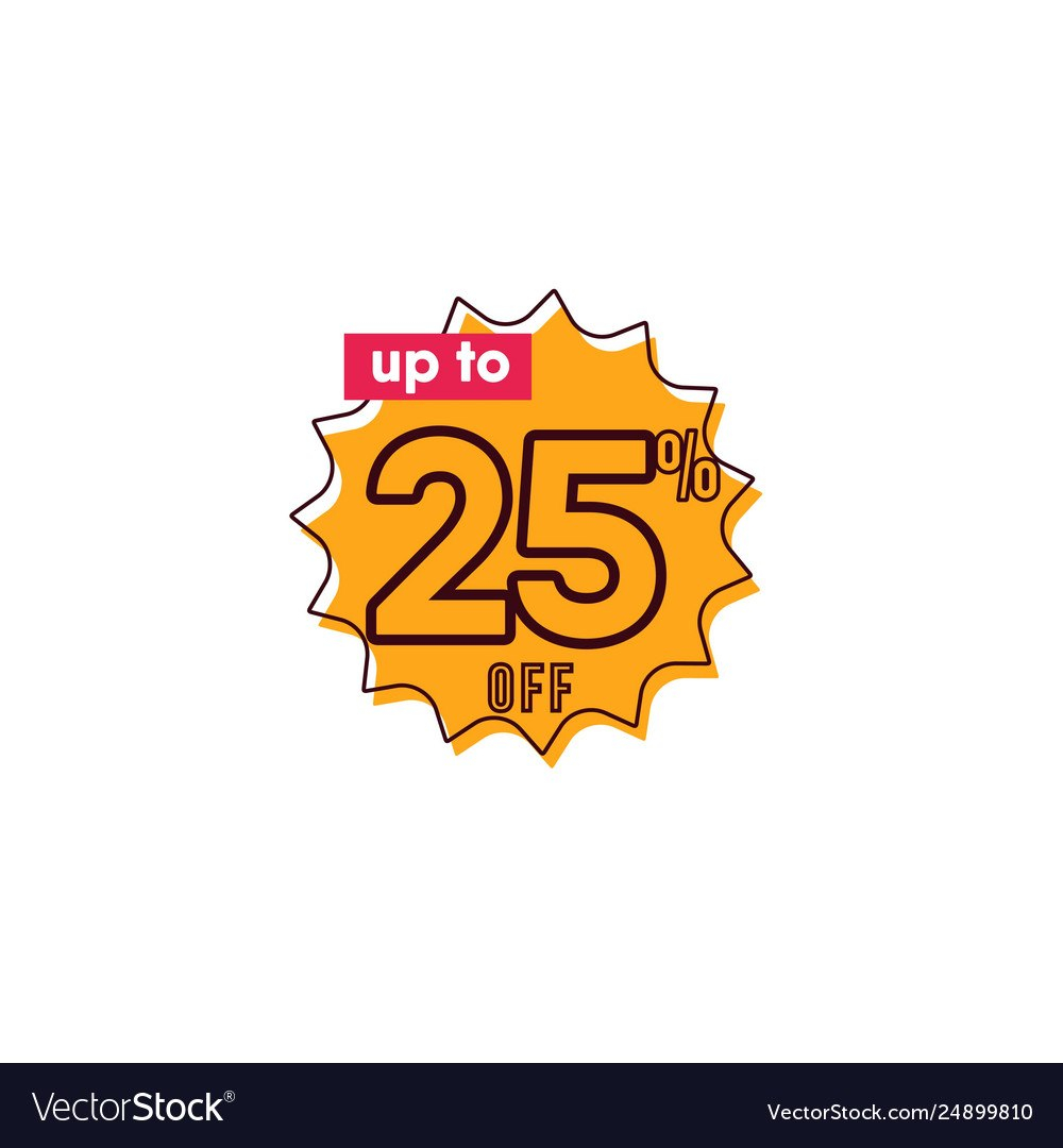 Discount Up To  Off Label Template Design Vector Image Pertaining To 10 Up Label Template