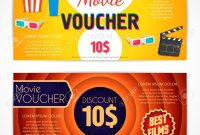 Discount Voucher Movie Template Cinema Gift Certificate Coupon inside Movie Gift Certificate Template