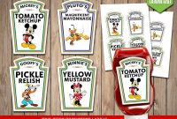 Disney Clubhouse Condiment Labels  Mickey Mouse Condiments Disney for Heinz Label Template