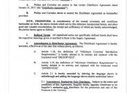 Distributor Agreement With Philips within Limited Risk Distributor Agreement Template