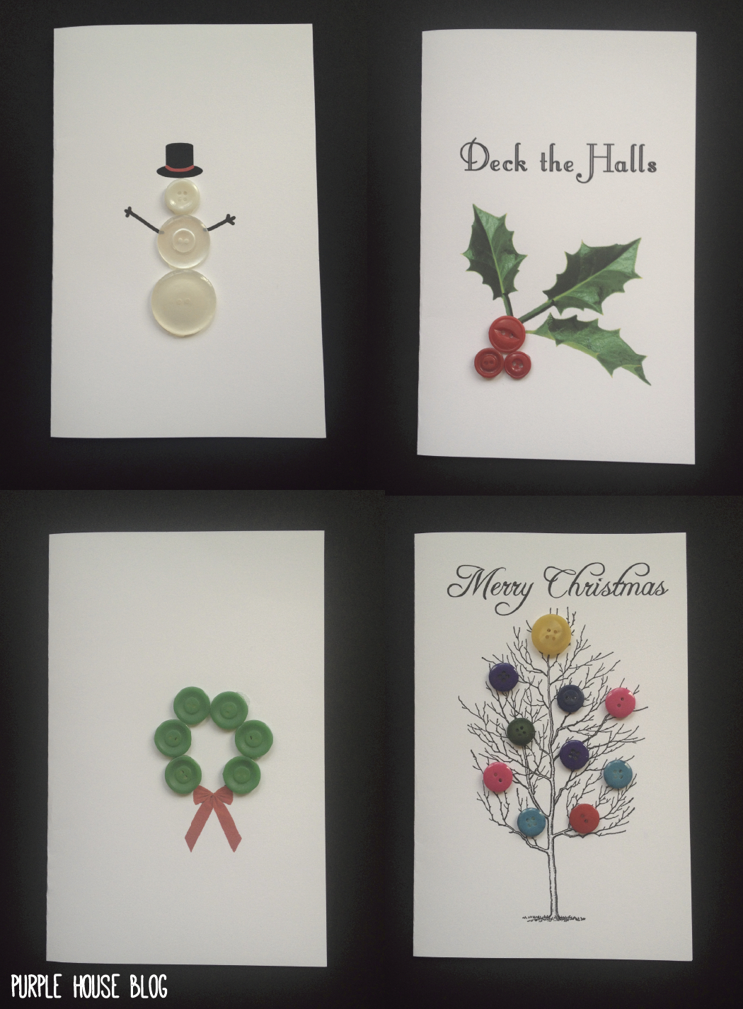 Diy Button Holiday Cards With  Free Downloadable Templates In Diy Christmas Card Templates