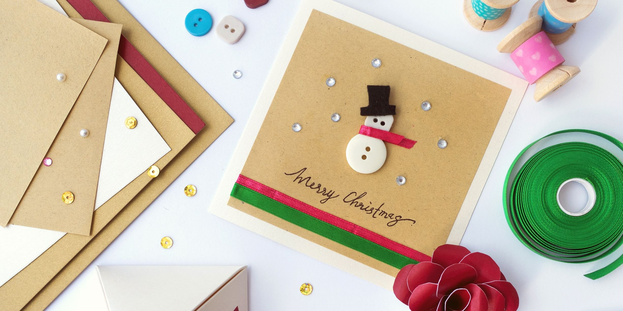 Diy Christmas Card Ideas  Easy Homemade Christmas Cards We're Within Print Your Own Christmas Cards Templates