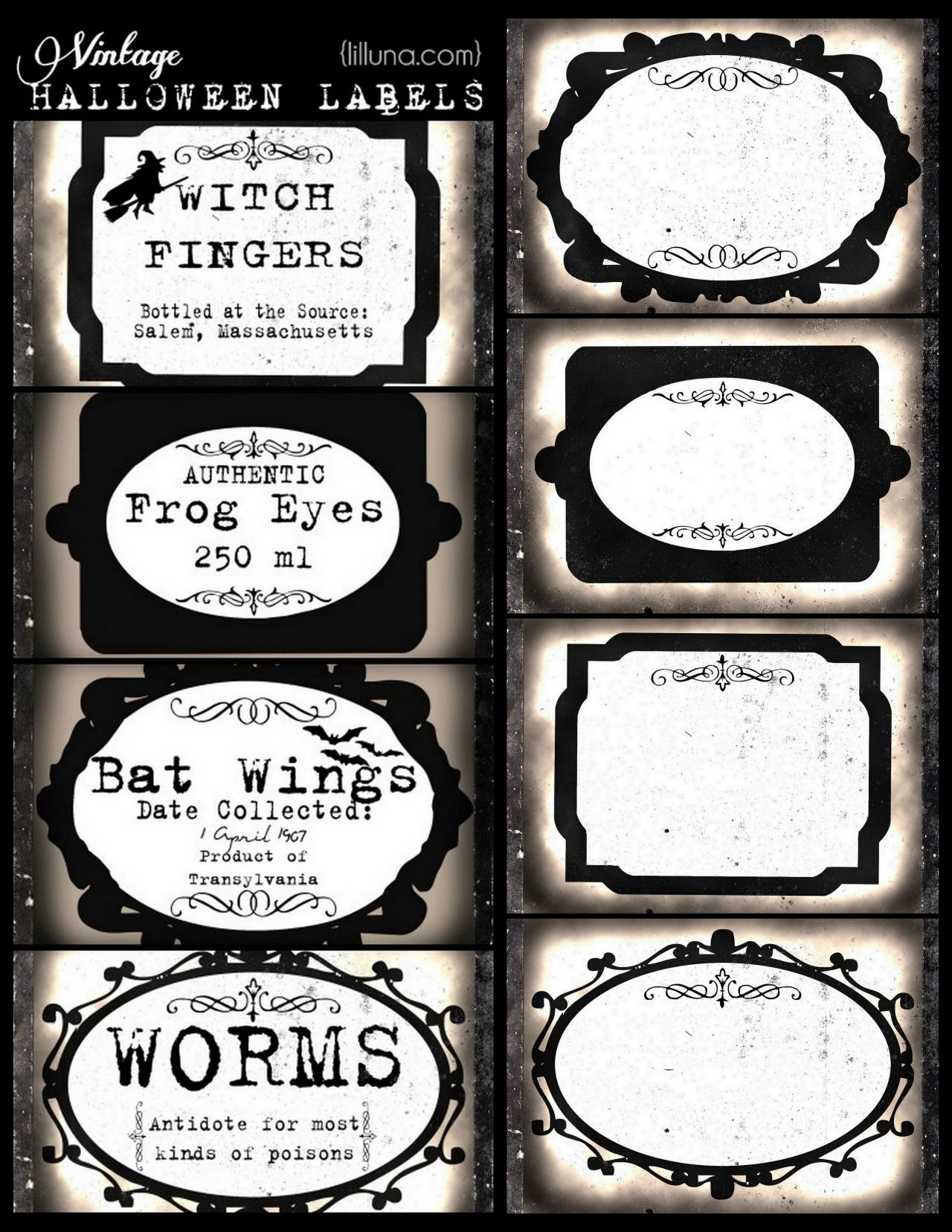 Diy Halloween Apothecary Printables From Lil' Luna You Can Add Your With Regard To Potion Label Template